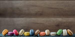 macarons faits maison, à la chocolaterie Colombet à Pontgibaud, près de Clermont ferrand
